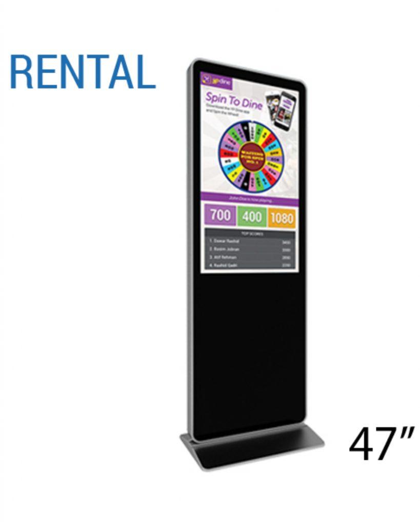 47 Inch Digital Rental Prize Wheel Kiosk