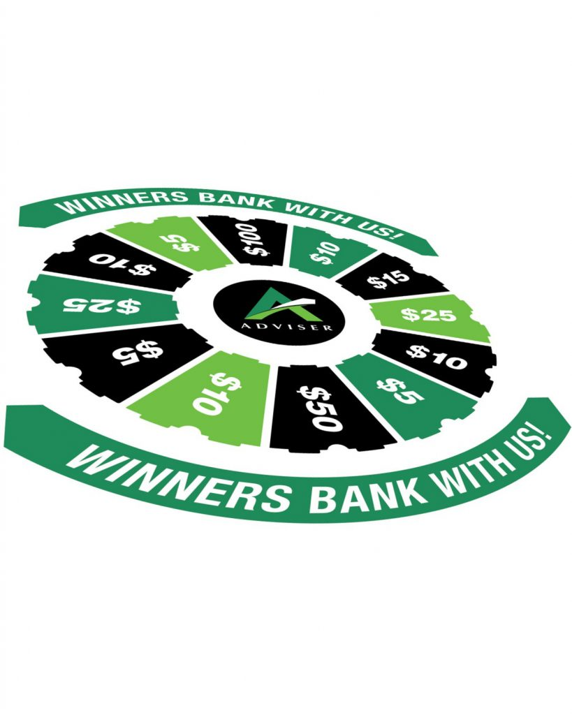 Spin 'N Win Prize Wheel Plus Graphic Panel Kit