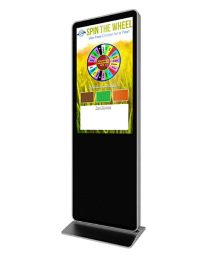 "55"" Digital Prize Wheel Touch Screen Kiosk"