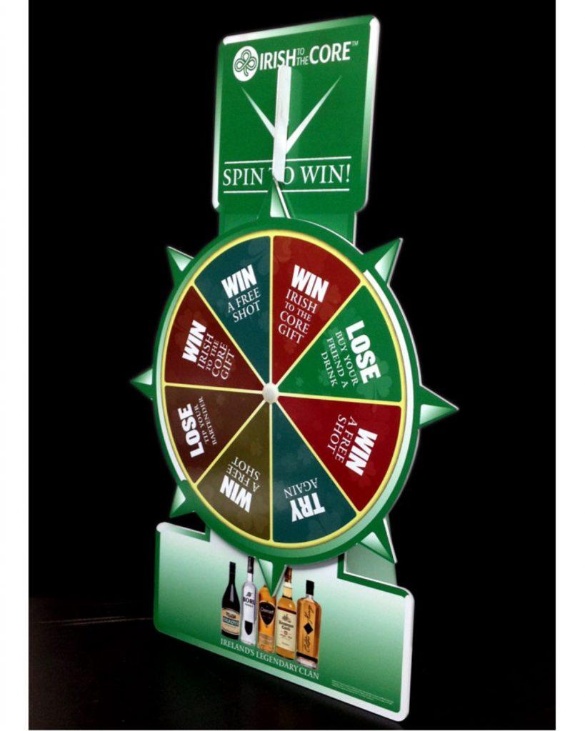 "Table Top Spinning Wheel Game 23-12 (23"" high, 12"" diameter wheel)"