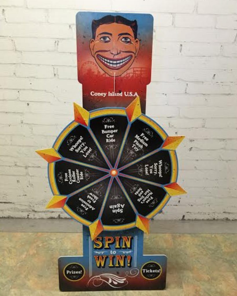 Table Top Spinning Prize Wheel